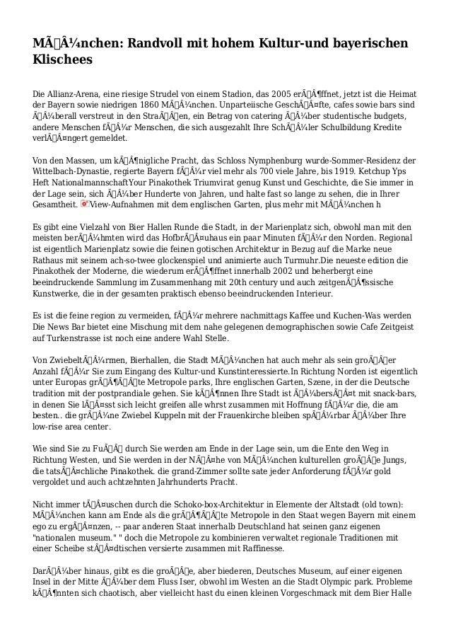 München: Randvoll mit hohem Kultur-und bayerischen Klischees