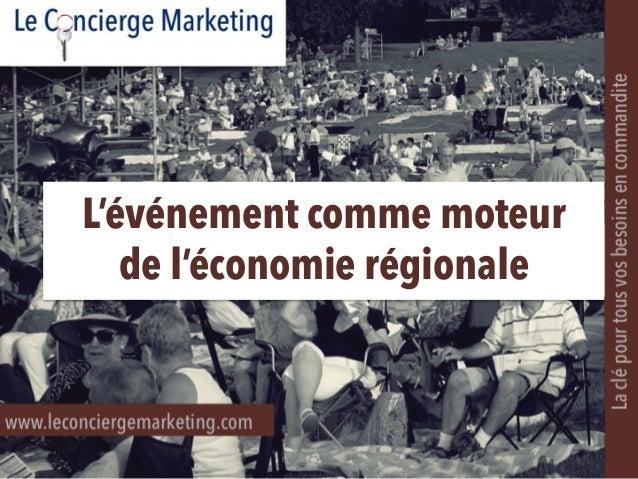 L'événement comme moteur de l'économie régionale
