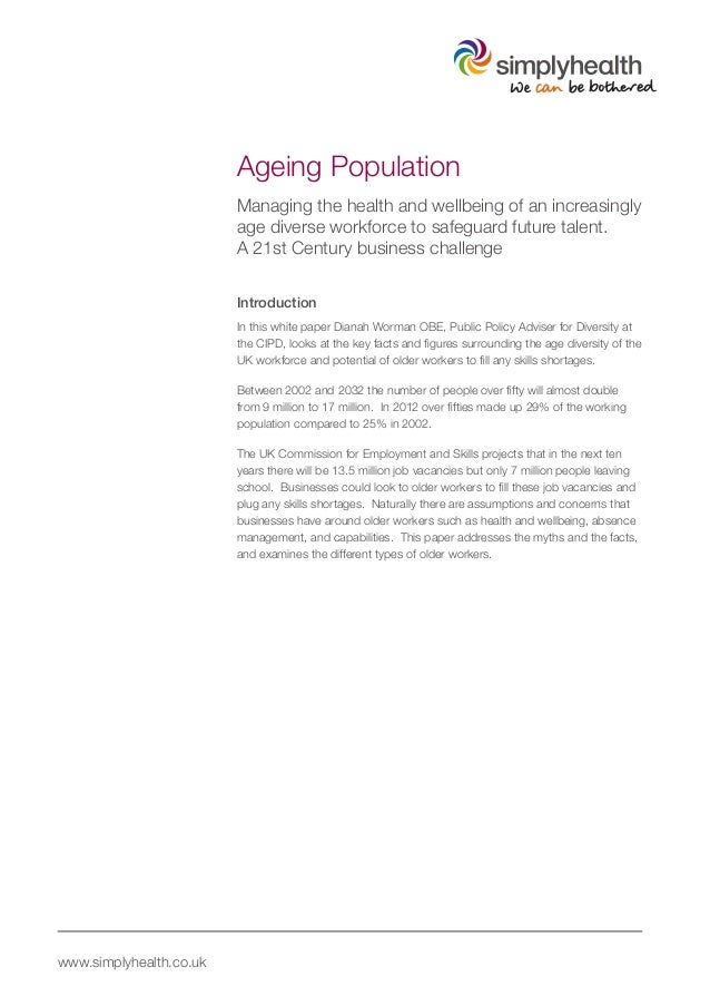 gp essay on ageing population