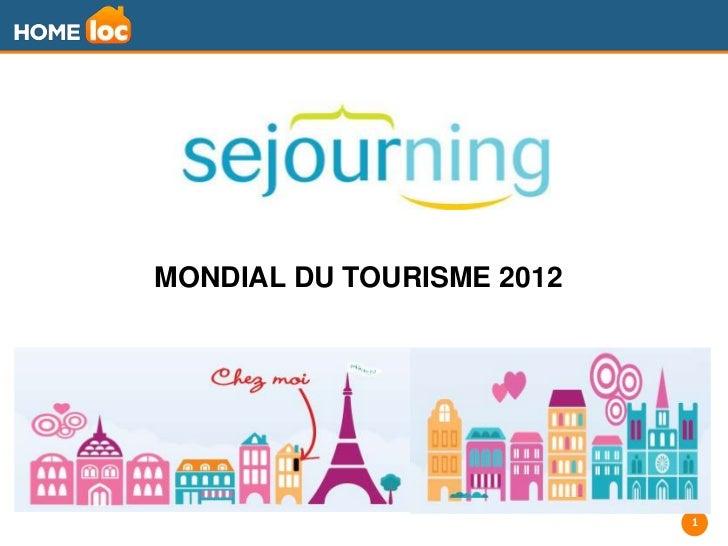 MONDIAL DU TOURISME 2012                           1