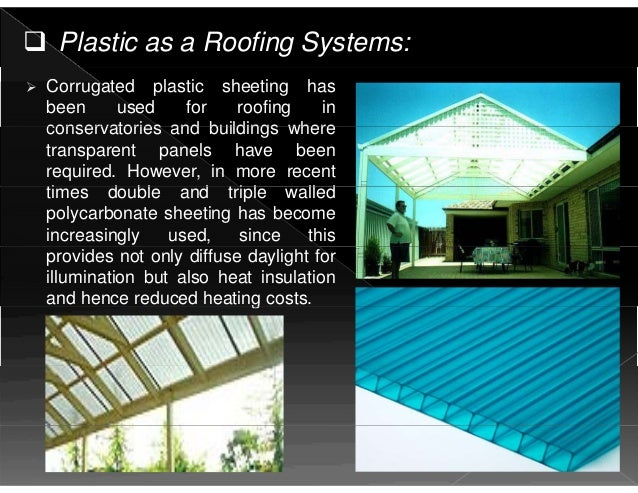 Polypropylene Building Material : Building materials as a plastic