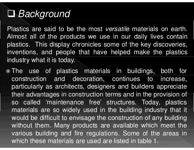 BUILDING MATERIALS AS A PLASTIC Slide 2