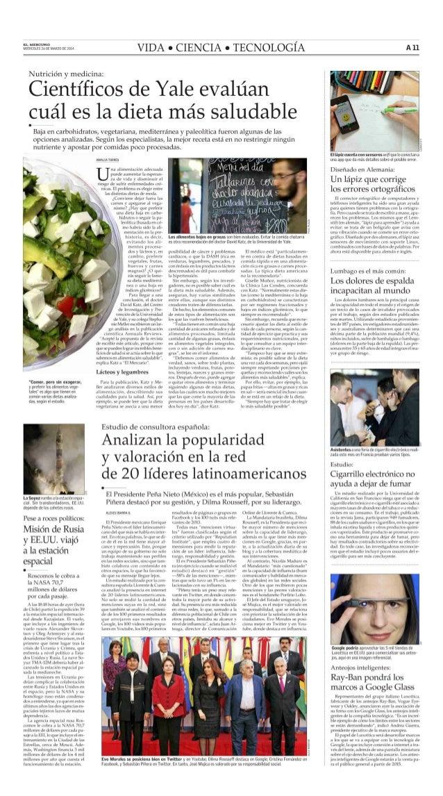 El Mercurio: reputación online de los presidentes latinoamericanos