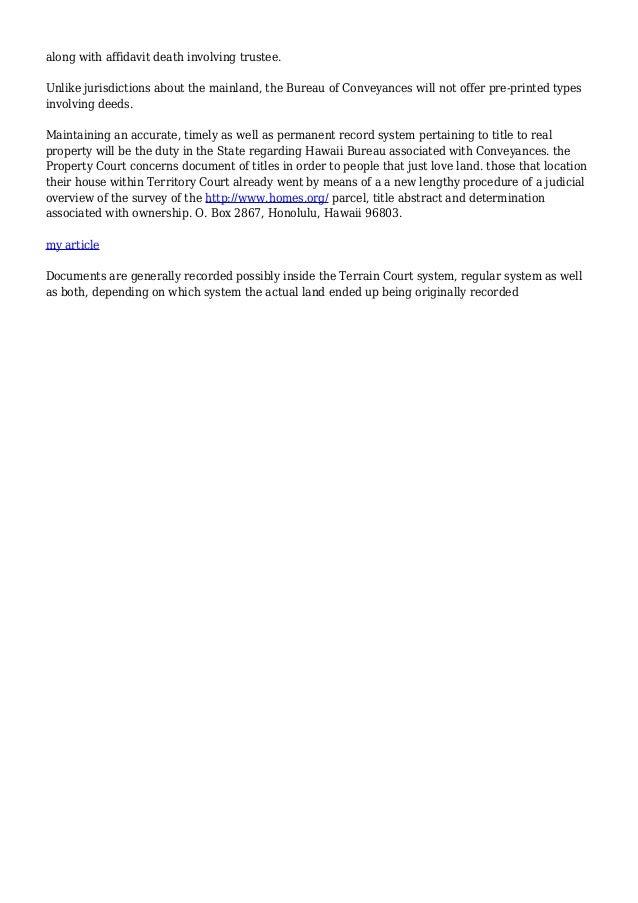 Bureau of Conveyances | Online Services