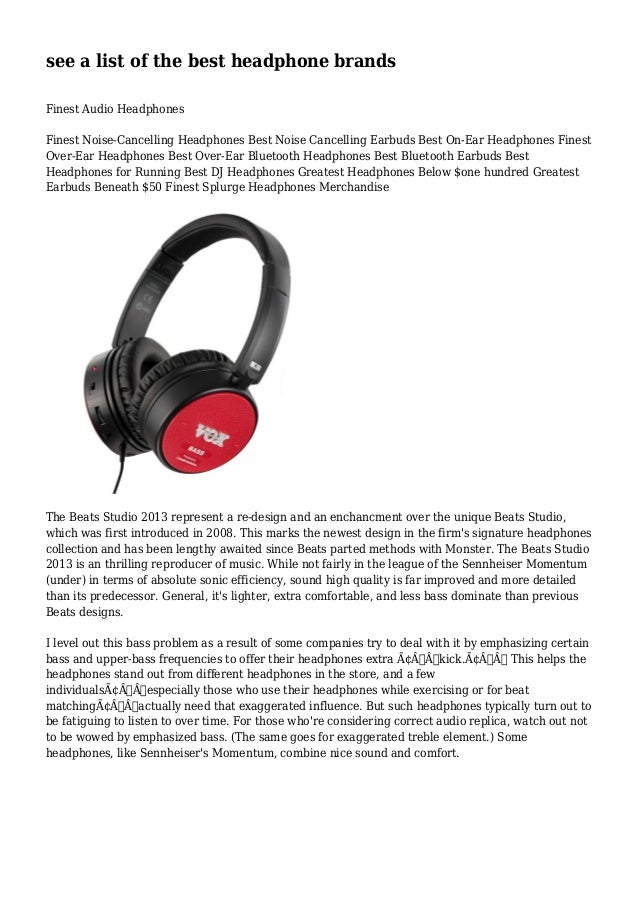 see a list of the best headphone brands