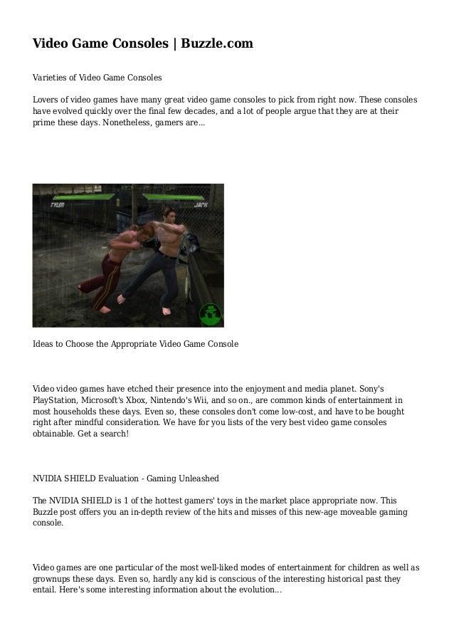 Video Game Consoles | Buzzle com
