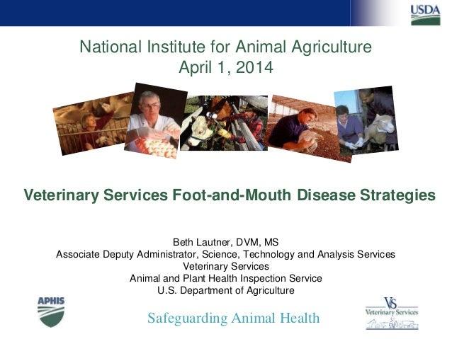 Safeguarding Animal Health National Institute for Animal Agriculture April 1, 2014 Beth Lautner, DVM, MS Associate Deputy ...