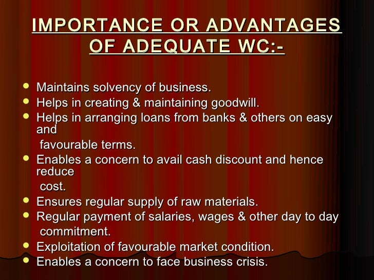 advantages of working capital There are a few differences between fixed capital and working capital which has been discussed in this article the first one is fixed capital is defined as the part of the total capital of the enterprise which is invested in long term assets while working capital refers to the capital, which is used to perform day to day business operations.