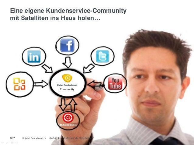 © Kabel Deutschland • Eine eigene Kundenservice-Community mit Satelliten ins Haus holen… Community © Kabel Deutschland • 0...