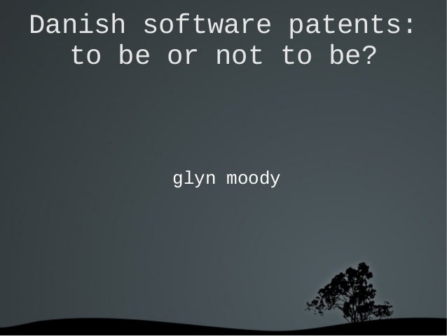 Danish software patents: to be or not to be? glyn moody