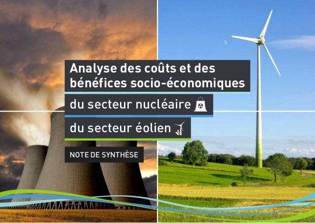 Analyse des coûts et des bénéfices socio-économiques du secteur nucléaire NOTE DE SYNTHÈSE du secteur éolien