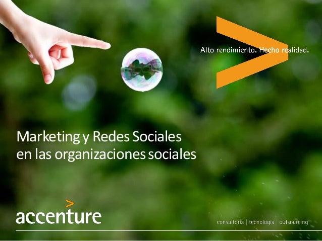 Marketingy RedesSociales en las organizacionessociales