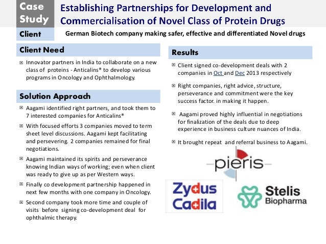 Case Study Client Client Need Solution Approach Results  Innovator partners in India to collaborate on a new class of pro...