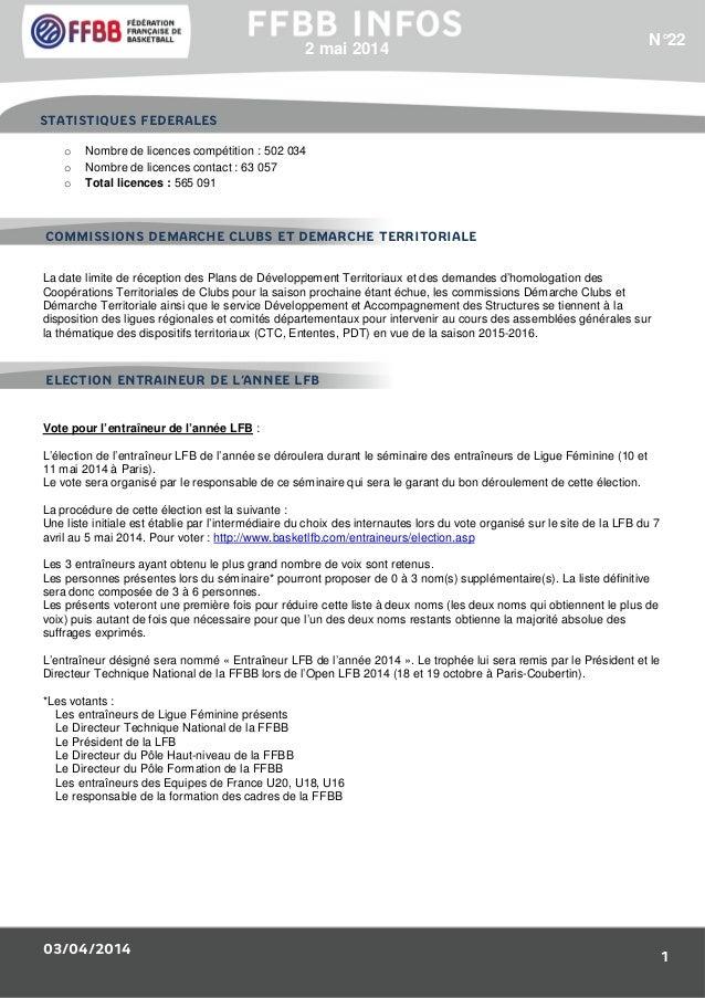 03/04/2014 1 o Nombre de licences compétition : 502 034 o Nombre de licences contact : 63 057 o Total licences : 565 091 L...