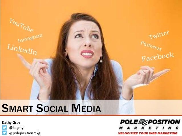 1 @kagray Kathy Gray @polepositionmkg SMART SOCIAL MEDIA