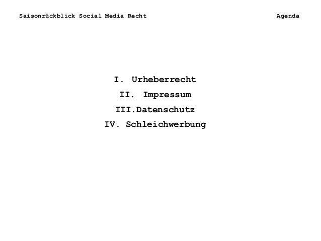rp#14: Saisonrückblick Social Media Recht Slide 2