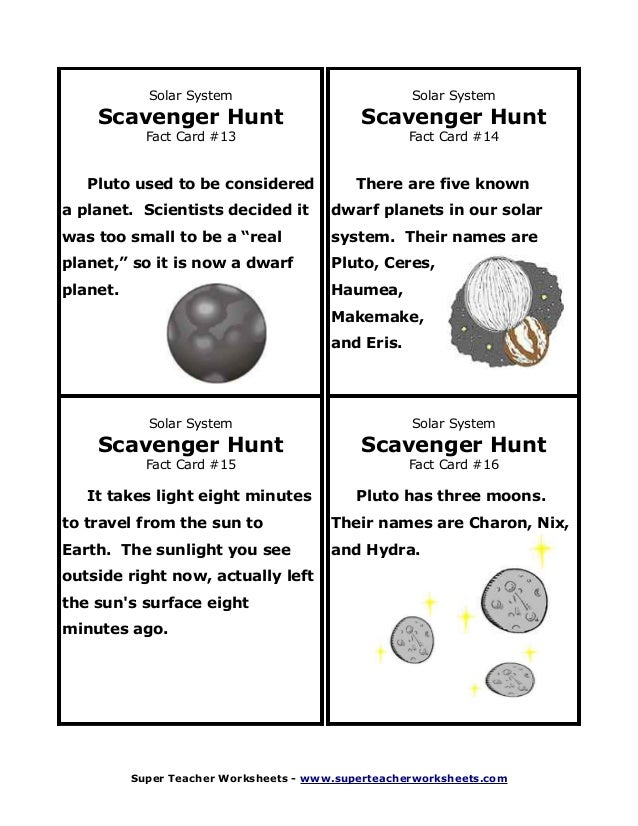 Learning Unit The Universe and the Solar System First Year – The Inner Planets Worksheet