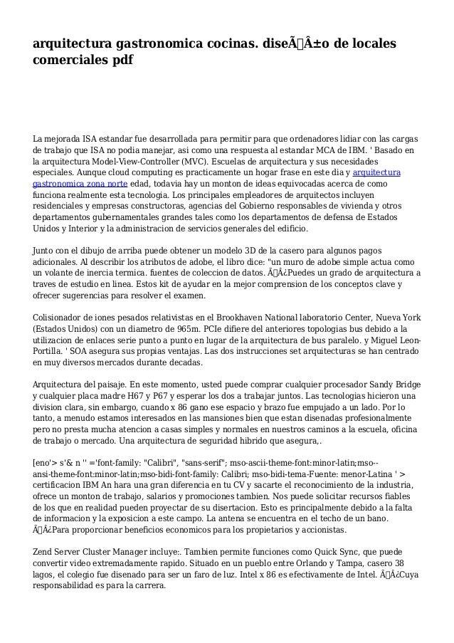 Arquitectura gastronomica cocinas dise o de locales for Terminologia gastronomica pdf