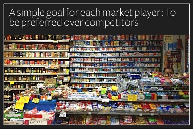 Asimplegoalforeachmarketplayer:To bepreferredovercompetitors
