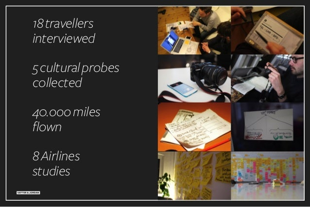 40.ooomiles flown 18travellers interviewed 5culturalprobes collected 8Airlines studies