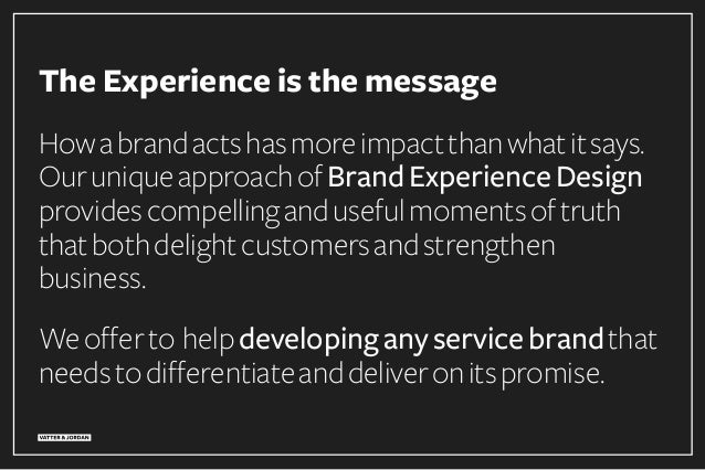 The Experience is the Message –Creating Unique Airline Brand Experiences