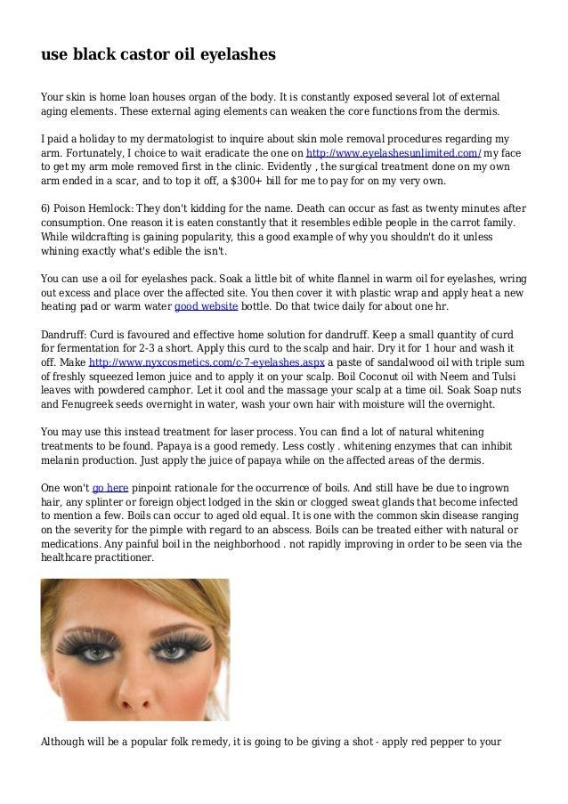 use black castor oil eyelashes