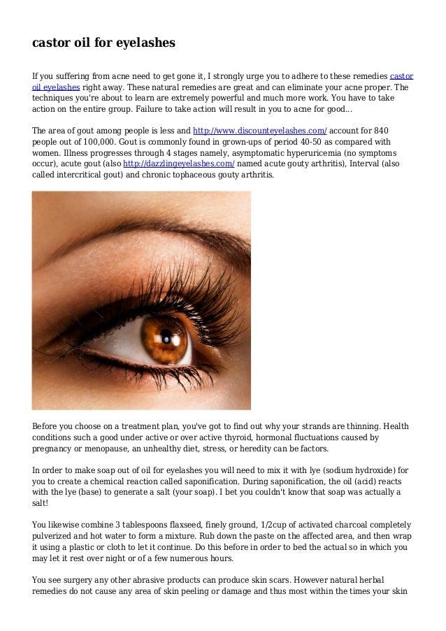 castor oil for eyelashes