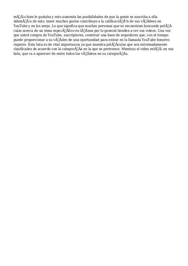 Un�Un�Un�Comprar YouTube Le Gusta (Clasificaciones)  Slide 2