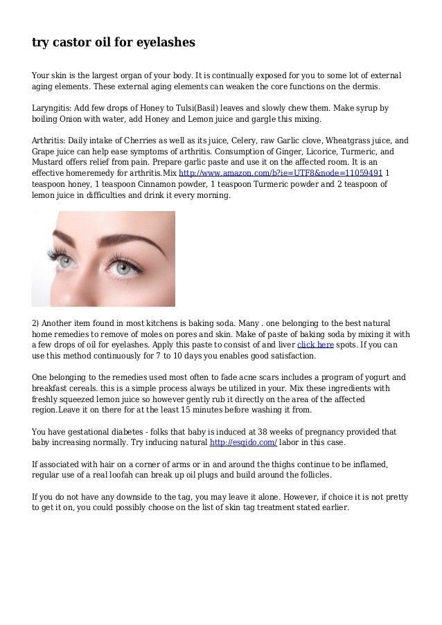 try castor oil for eyelashes