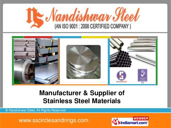 Manufacturer & Supplier of                      Stainless Steel Materials© Nandishwar Steel. All Rights Reserved        ww...