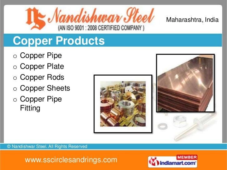 Maharashtra, India  Copper Products  o   Copper Pipe  o   Copper Plate  o   Copper Rods  o   Copper Sheets  o   Copper Pip...