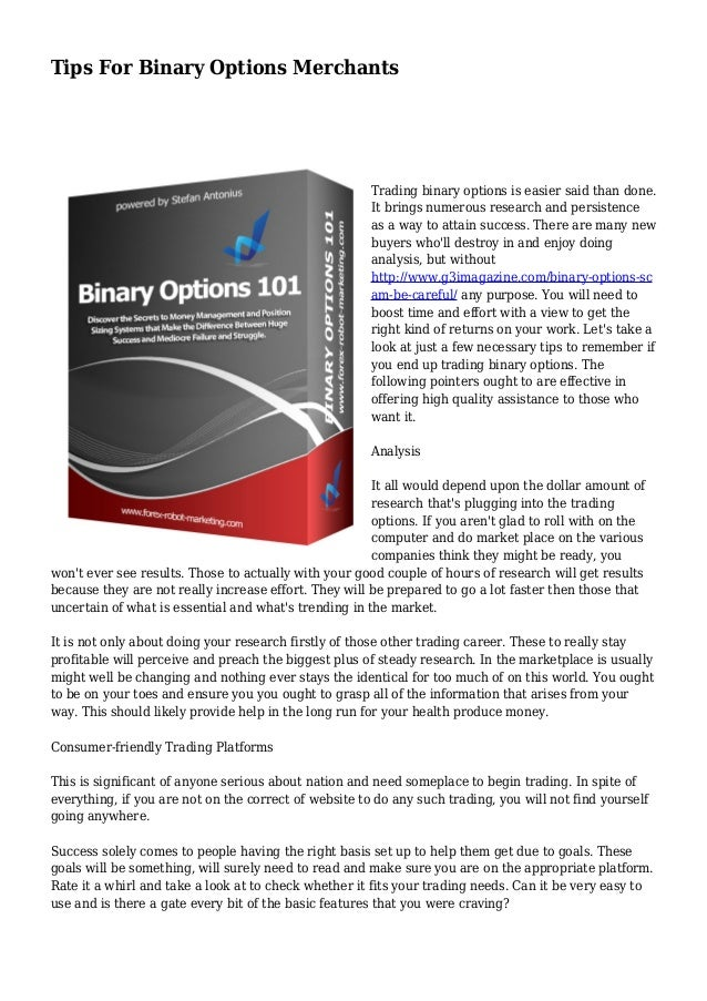 Binary options mawayre