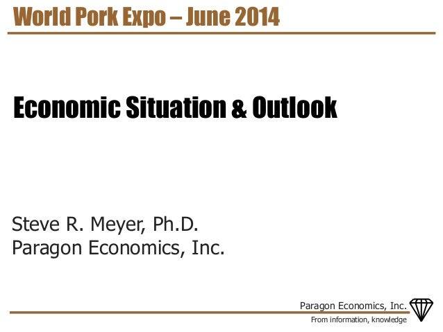 From information, knowledge Paragon Economics, Inc. Steve R. Meyer, Ph.D. Paragon Economics, Inc. World Pork Expo – June 2...