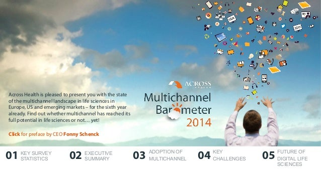 01 02 03 04 05 Across Health is pleased to present you with the state of the multichannel landscape in life sciences in Eu...