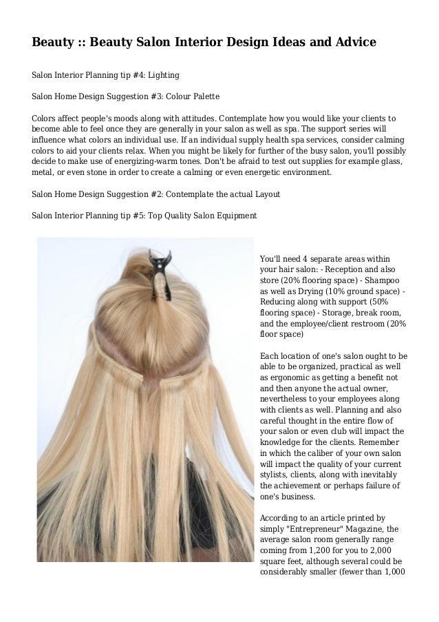 Beauty :: Beauty Salon Interior Design Ideas and Advice