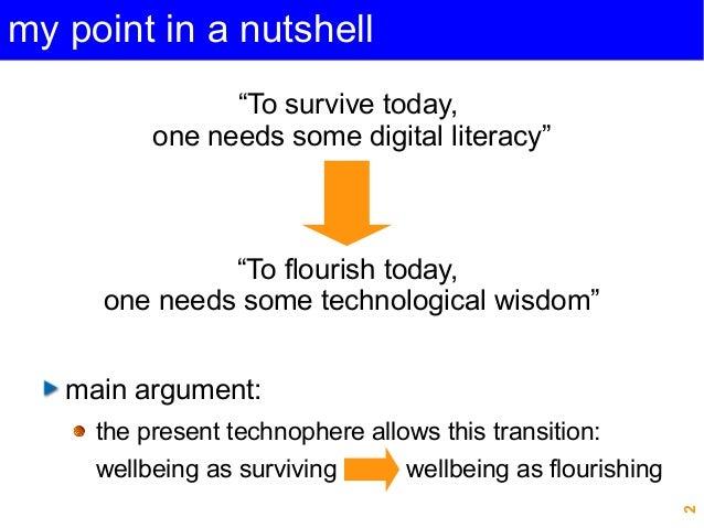 """Beyond digital literacy: Technological wisdom for the good life"", Michel PUECH, CEPE 2014 Slide 2"