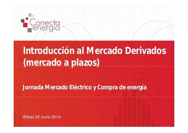 Introducción al Mercado Derivados  (mercado a plazos)  Jornada Mercado Eléctrico y Compra de energía  Bilbao 26 Junio 2014