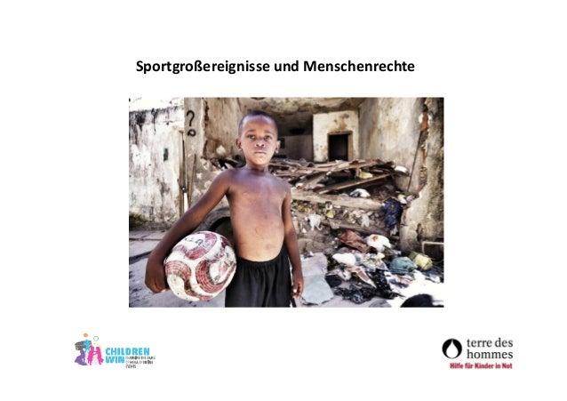 Sportgroßereignisse und Menschenrechte