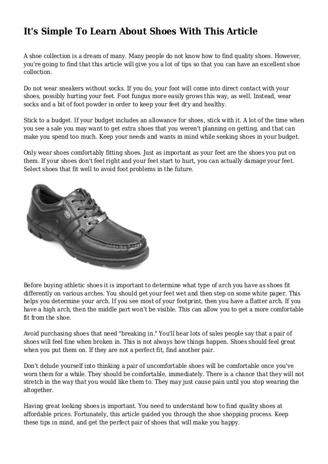 9393ce9ee It's Simple To Learn About Shoes With This Article