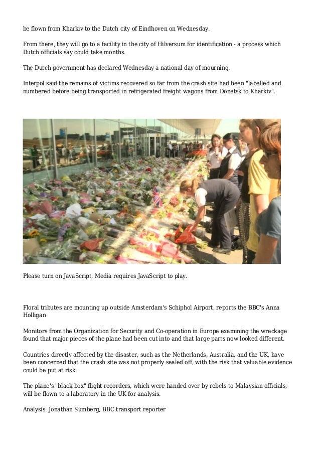 BBC News - MH17 plane crash: Remains of victims 'still at