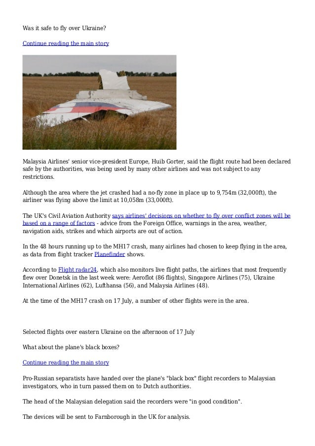 BBC News - MH17 Malaysia plane crash in Ukraine: What we know