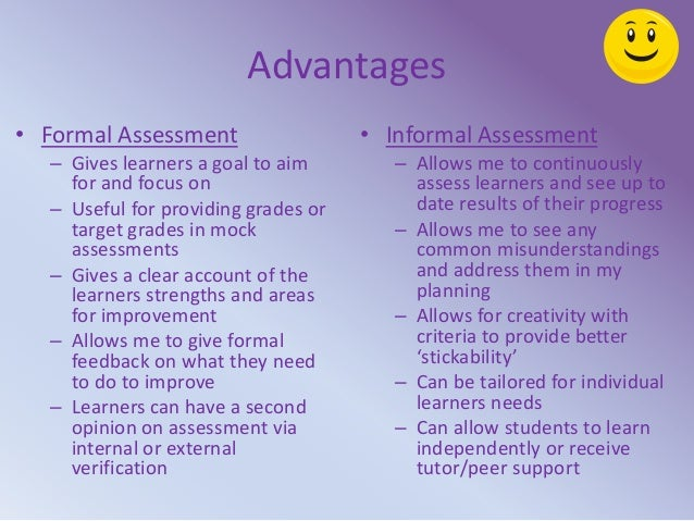 Enabling Learning and Assessment – Formal Assessment