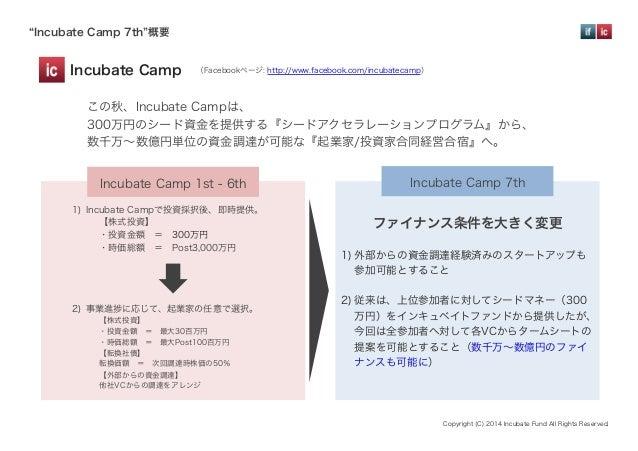 『Incubate Camp 7th』リニューアル開催概要 Vol.1 Slide 2