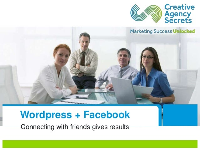 Wordpress + Facebook Connecting with friends gives results