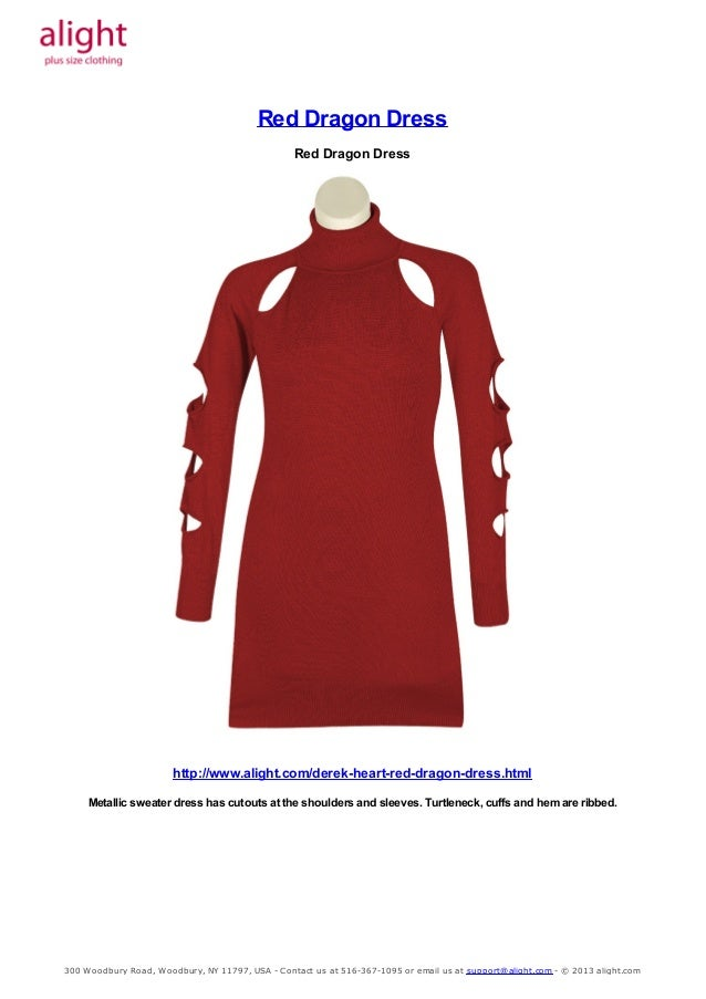 Plus Size Red Dragon Dress
