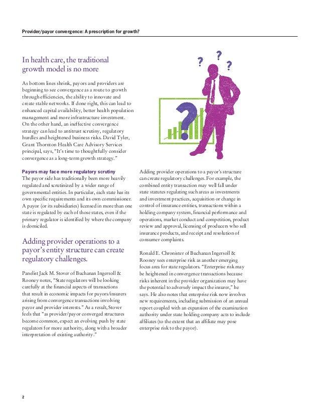 Provider/payor convergence: A prescription for growth? Slide 2