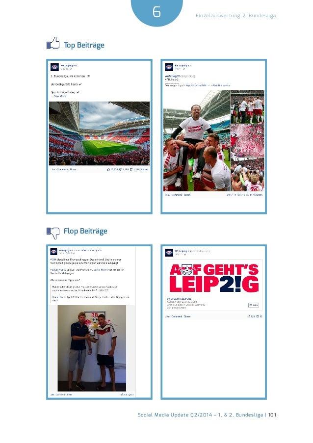 6  Social Media Update Q2/2014 – 1. & 2. Bundesliga | 101  Einzelauswertung 2. Bundesliga  Top Beiträge  Flop Beiträge