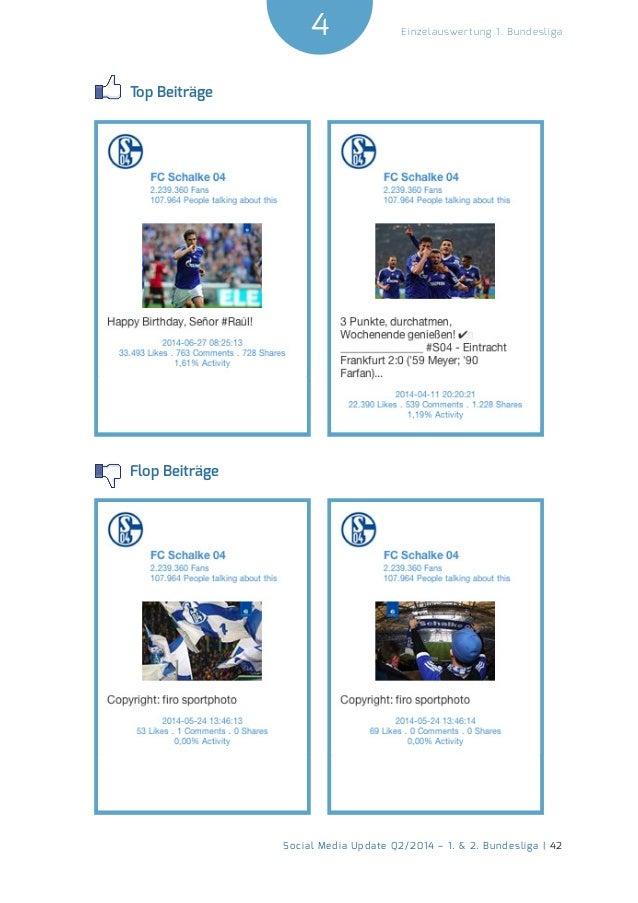 4  Social Media Update Q2/2014 – 1. & 2. Bundesliga | 42  Einzelauswertung 1. Bundesliga  Top Beiträge  Flop Beiträge