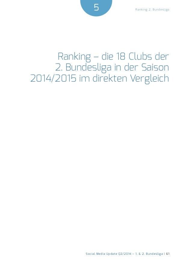 5  Social Media Update Q2/2014 – 1. & 2. Bundesliga | 61  Ranking 2. Bundesliga  Ranking – die 18 Clubs der  2. Bundesliga...