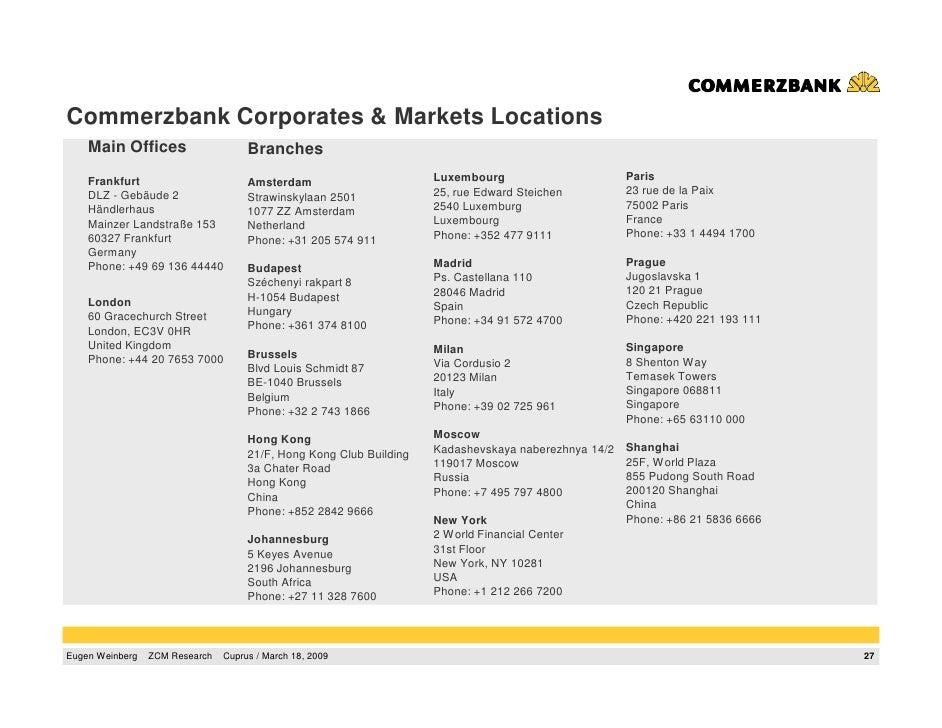 Eugene weinberg commerzbank - Commerzbank london office ...